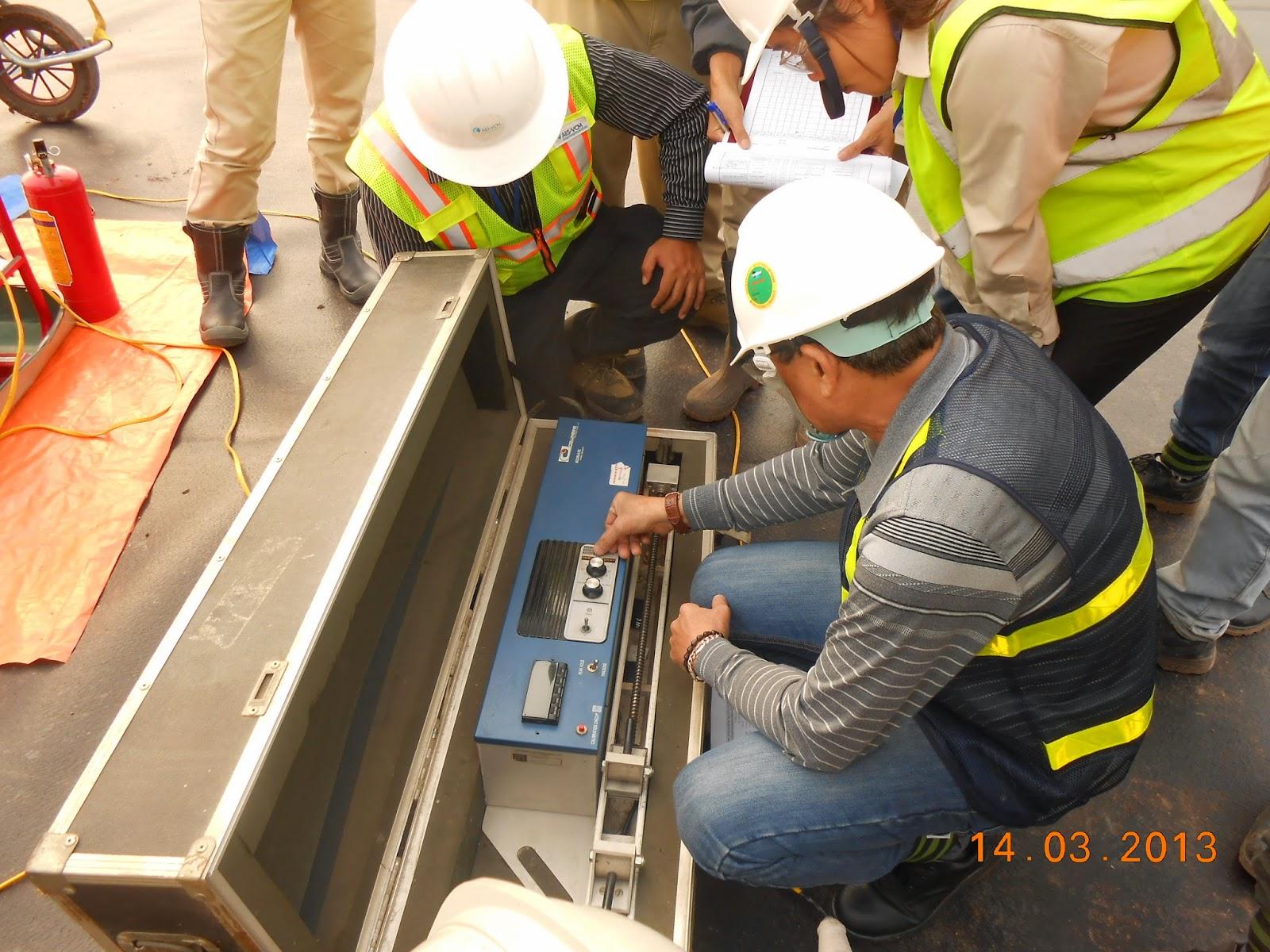 Kiểm tra mẫu đường hàn HDPE tại công trình