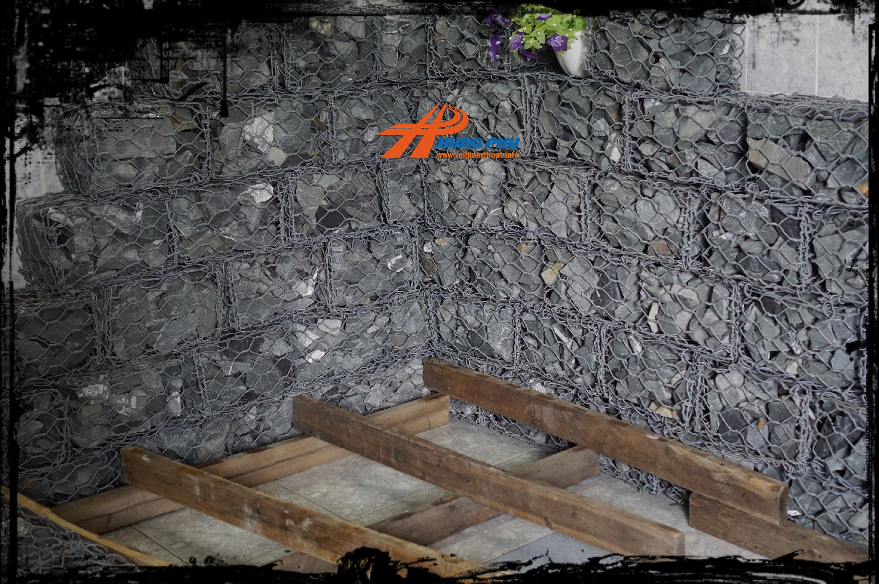 Tường đá trang trí