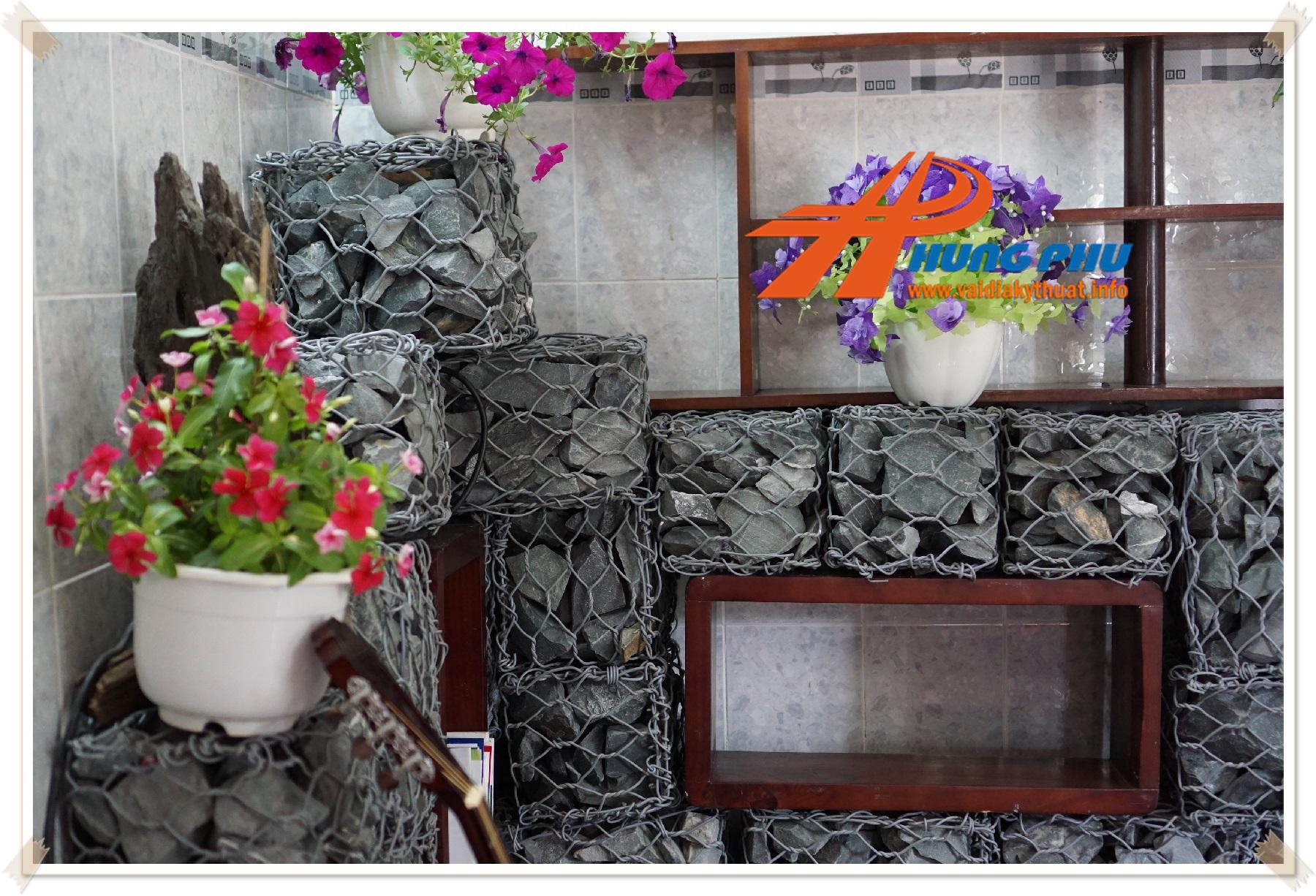 Rọ đá trang trí tường